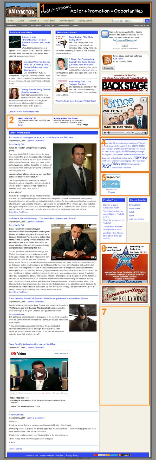 Daily-Actor--Ad-page