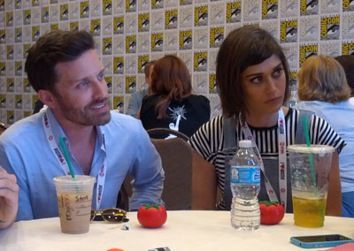 The-Sidekick-Comic-Con-Rob-Benedict-Lizzy-Caplan