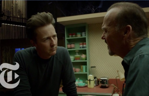 'Birdman' Director Alejandro G. Iñárritu Narrates a Scene from the Film Featuring Michael Keaton and Edward Norton