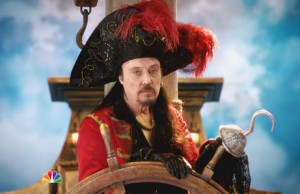 Christopher Walken as Captain Hook in Peter Pan