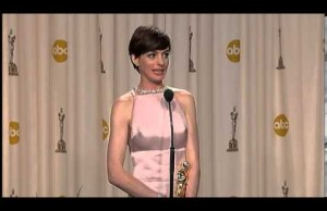 Oscar Speech and Backstage Interview: Anne Hathaway for Best Supporting Actress (video)
