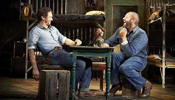 james-franco-chris-o'dowd-of-mice-and-men-broadway