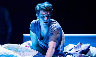 Actor Andrew Garfield in Angels in America